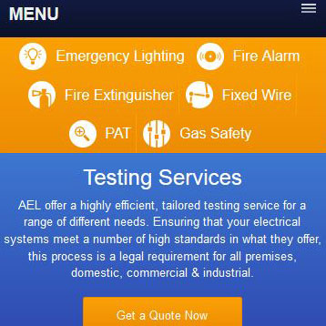 AEL Responsive Website Menu by Redesign Ltd