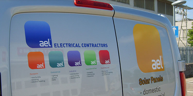 AEL Logo array on van by Redesign