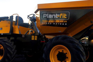 Plant Fit Ltd branding applied to their Site Dumpers