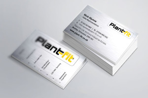 Plant Fit Ltd Business Card with a metal effect
